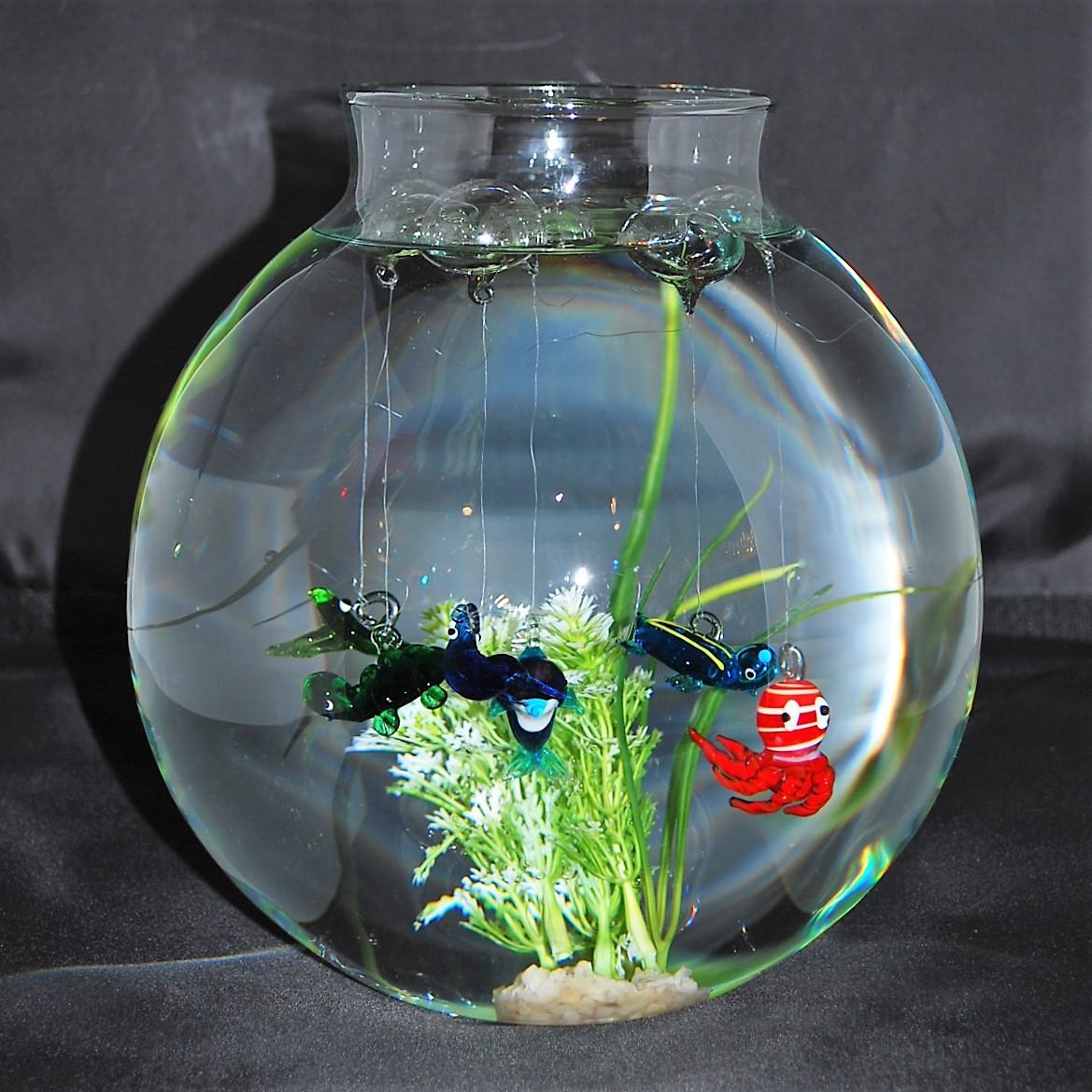 Glasfische Mit Schwimmblase 6er Set Glasblaserei Claudia Schlenz