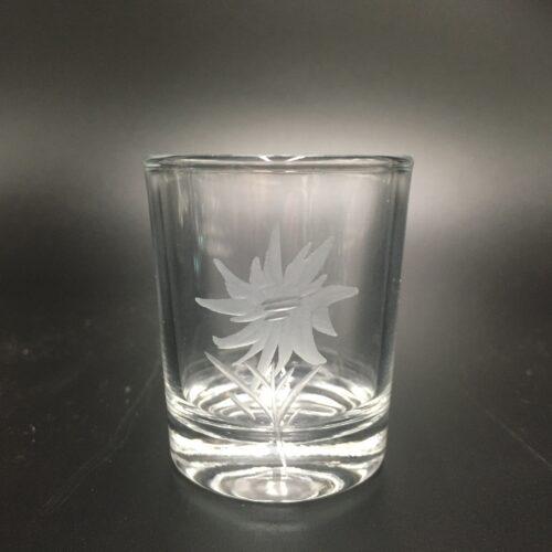 Schnapsglas Edelweiß