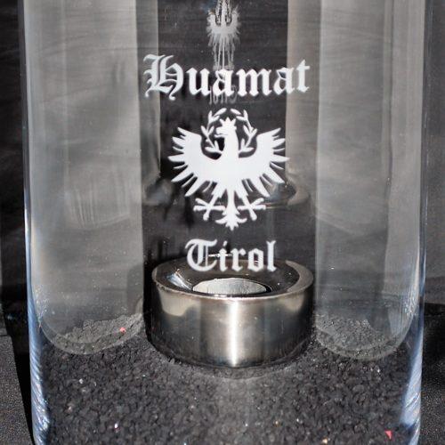 Feuerstelle aus Vollglas Ø 20 cm klein
